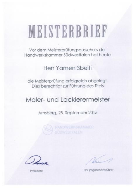 Zertifikat / Urkunde